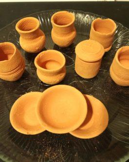 Mexican mini clay pots